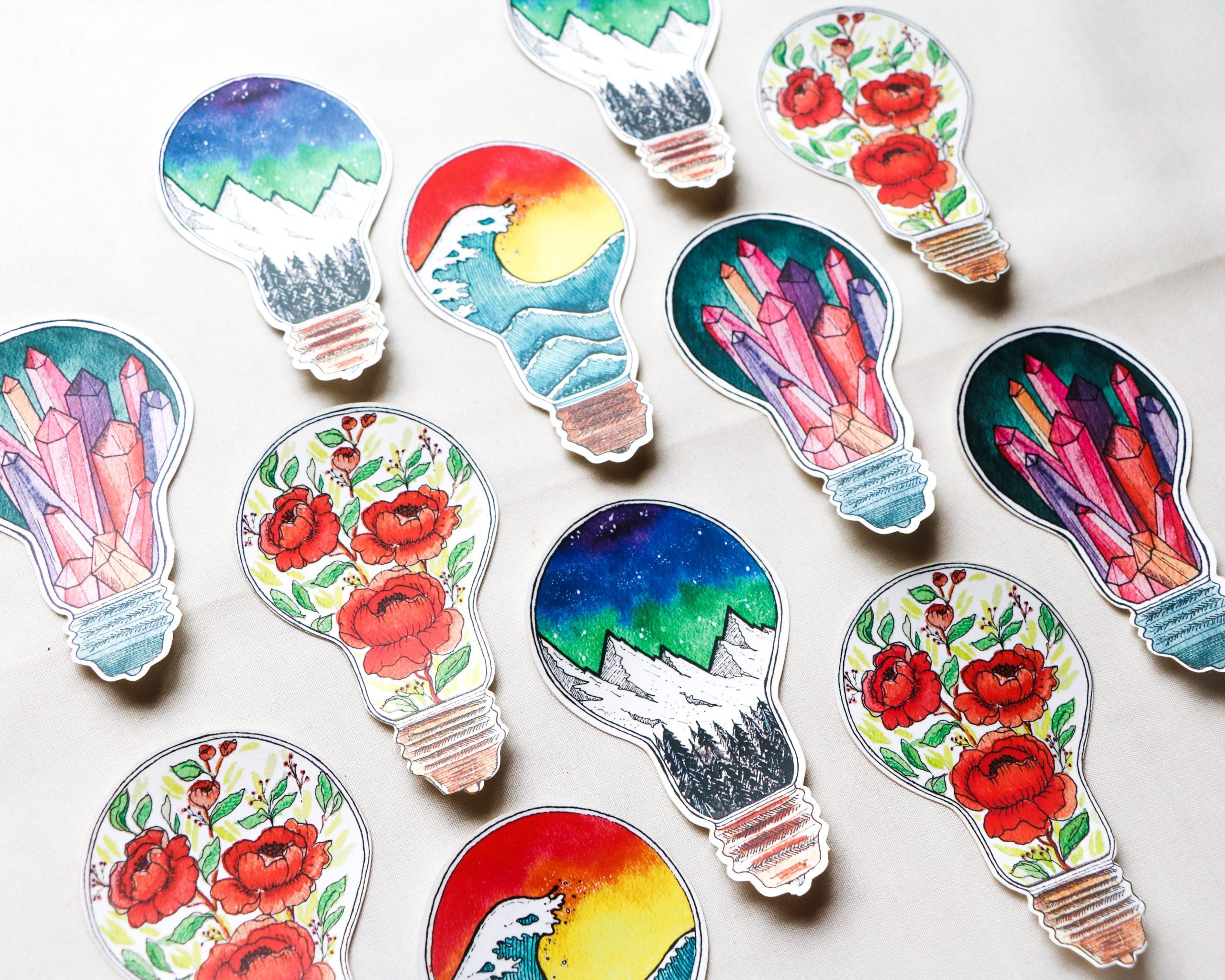colori e idee per sticker